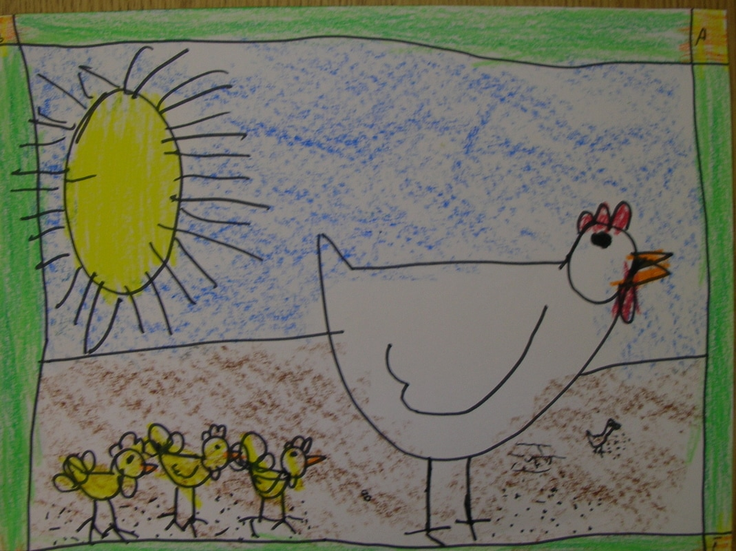 Image result for kids crayon chicken drawing